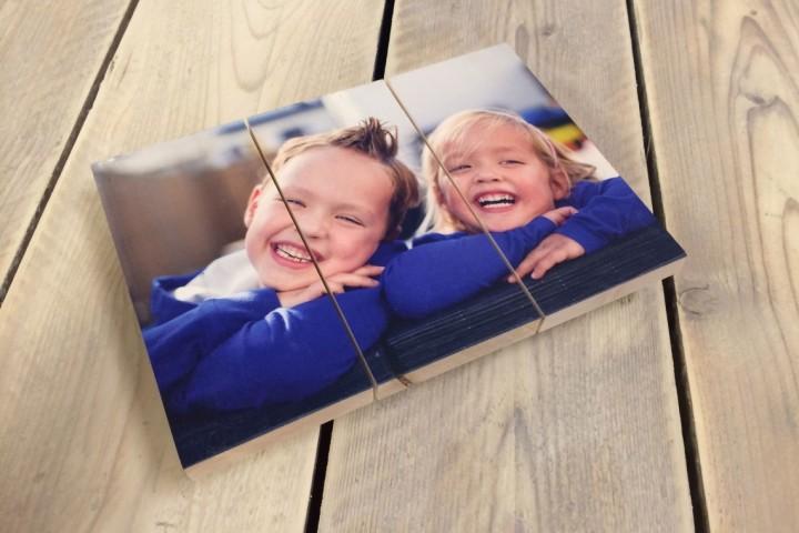 Foto op hout van kinderen