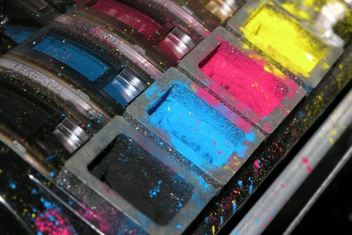 Inkt in een printer